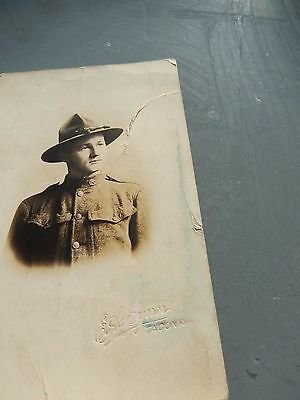 Photo Carte Postale Soldat Us Army 1 Guerre Mondiale  Ww1