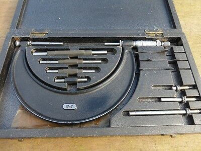 """Moore & Wright outside micrometer set 2-6"""" boxed"""