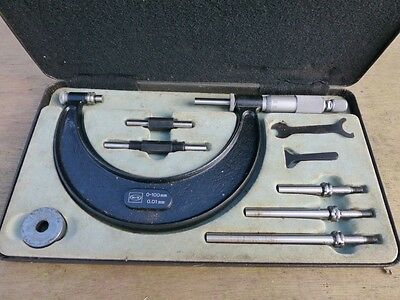 Moore & Wright outside micrometer set 0-100mm boxed