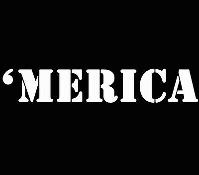 'Merica America Murica Decal Window Sticker Car Truck White