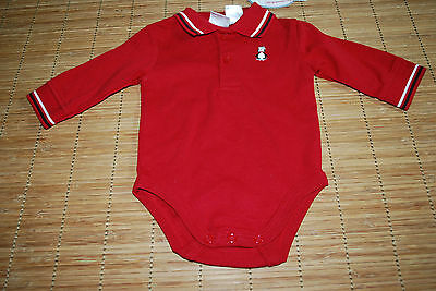 Koala Baby Red One Piece Snap Closure Long Sleeve Collared Jumpsuit 6-9 Months