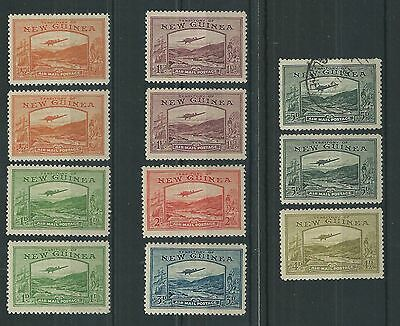 New Guinea 1939 Air Mail Postage Set to 5d Mint Cat£78