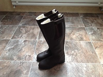 Kilpurnie long leather fur lined riding boots in Brown new never worn size 6