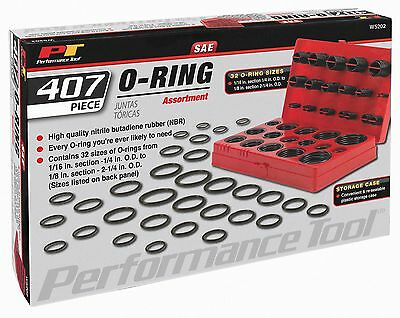 Performance Tool  W5202 O-Ring Assortment, 407-Piece