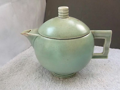 Art Deco Style Carlton Ware Teapot  In Green  At Fault