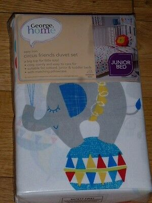 Duvert cover set BNWT Circus pattern Junior bed size Brand new