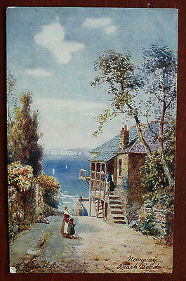 Vintage Postcard, Artist Signed H B Wimbush-Newquay Beach Road-Tucks Posted 1906