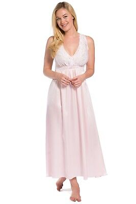 cb9c45113 Fishers Finery Women s 100% Pure Mulberry Silk Long Nightgown with Lace  Bodice