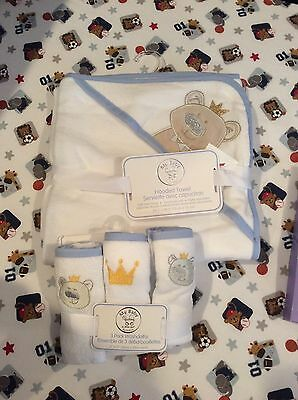 Baby Boy Hooded Towel And Wash Clothes NWT