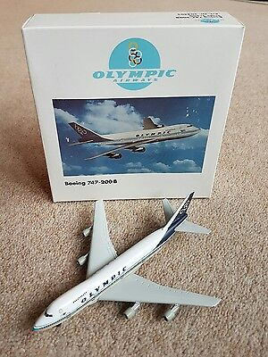 Herpa Wings 1:500 Olympic  Airways  Boeing 747-200B  Mib