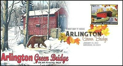 2013 Arlington Green Bridge Priority Mail #4738 Therome Cacheted FDC