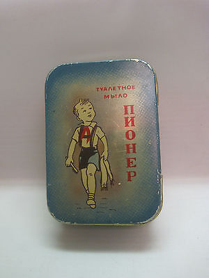 Old Russian Tin Box From Soap