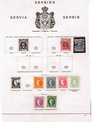 Serbia (pre 1936) on 7 album pages