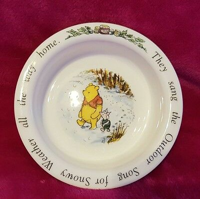 Royal Doulton winnie the pooh & piglet outdoor song cereal breakfast bowl