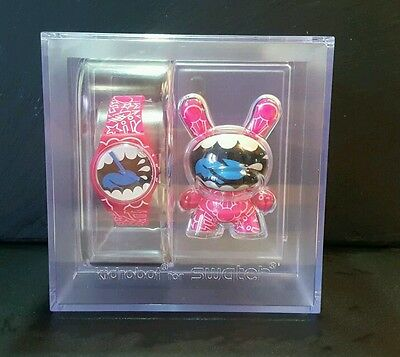 kidrobot Swatch Watch and Dunny MAD Limited Edition Shout Out