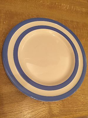 T.G. Green Pottery blue and white cornishware Dinner Plate