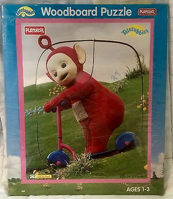 Vintage Retro 1998 Teletubbies Po On Scooter Woodboard Puzzle #629-04 New Sealed