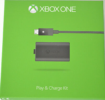 MICROSOFT PLAY & CHARGE KIT für XBOX ONE  - TOP ZUSTAND - ORIGINAL !