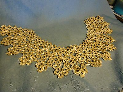 Vintage  Collar  Tatting  Beige