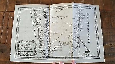 ANTIQUE MAP/Old Map of Part of India - Circa 1735