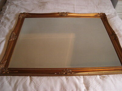Large Antique Style Ornate 4ft x 3ft Gold Wall Filling Mirror