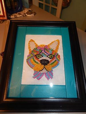 Colorful Glass Bead Fox Picture