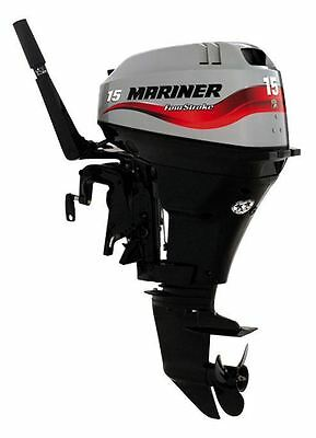 Mariner 4 Stroke Outboard Motor 15HP Manual Start Engine Tiller Short Shaft