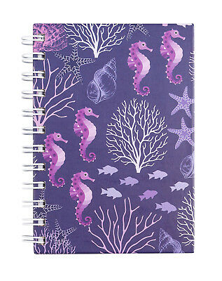 Cumberland Note Book Spiral A6 80 Sheets  - Seahorse Design