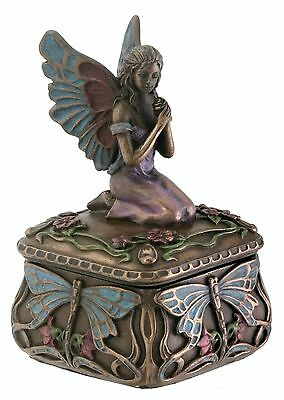 Dragonfly Fairy Box Jewelry Holder Decoration Accessory Collectible