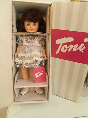 "Effanbee  Reproduction of 14"" Toni Doll Brunette ""Polka Dots & Posies"""