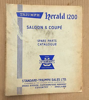 Triumph Herald 1200 Coupe Saloon Parts Binder