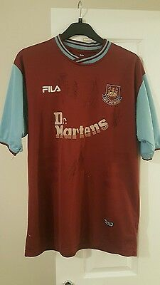 West Ham United signed shirt from 2001-2003