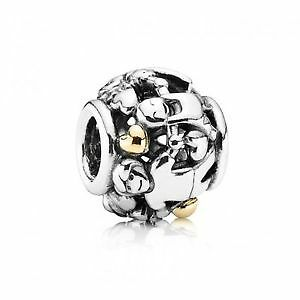 Genuine Pandora Silver and 14ct Gold Family Forever charm with POPUP ENVELOPE