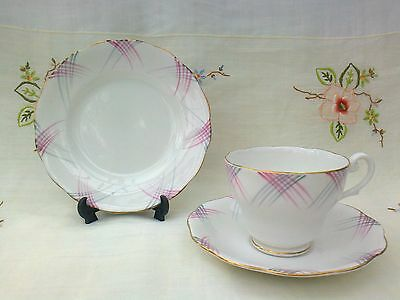 VINTAGE ROYAL STANDARD BONE CHINA TRIO       CUP AND SAUCER AND PLATE  1930s