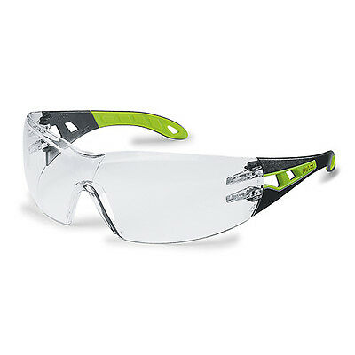 5 Pairs Uvex Safety Glasses Clear Lens