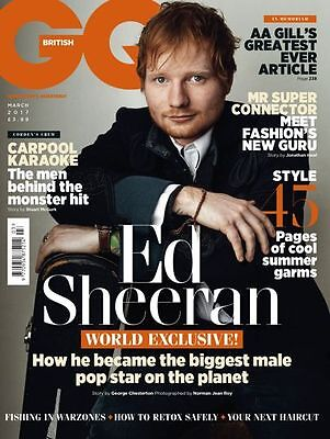 GQ Magazine British March 2017 Ed Sheeran NEW