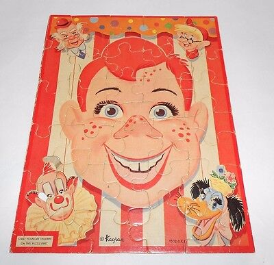 Vintage Kagran Howdy Doody Jigsaw Puzzle Complete 34 Pieces Great Graphic
