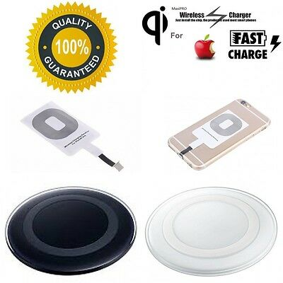 Qi Wireless Charger Charging Pad/Receiver For iPhone 7 7+ 6S+ 6 SE 5S 5C 5 IOS