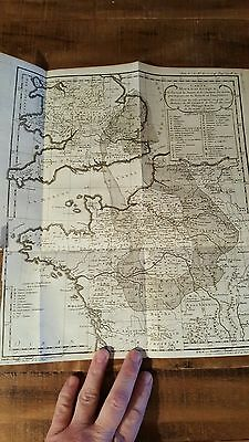 EARLY French Mineralogic Map, Circa 1758 / S. England, Northern France