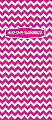 Ozcorp Slim Address Book 90x170mm - Pink Chevron Design