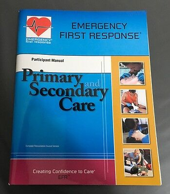 PADI emergency first Response EFR First aid manual Coursebook scuba diving 73091