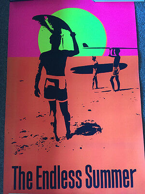 Endless Summer True Vintage Black Light Poster Late 60s