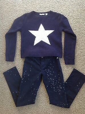 Country Road Girls Size 7 Jeans and Knit Jumper Outfit