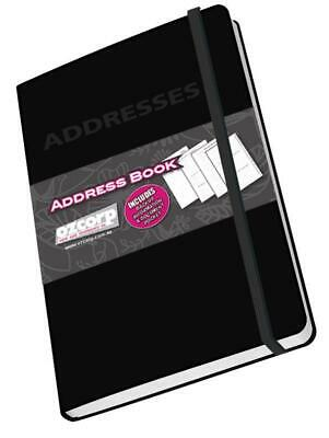 Ozcorp Mini Address Book 8.5x12.5cm - Black