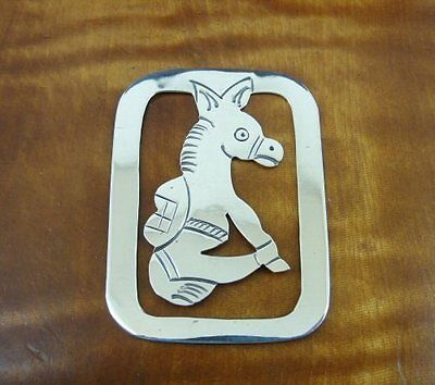 Donkey Burro Mexico Sterling Silver 925 BOOKMARK