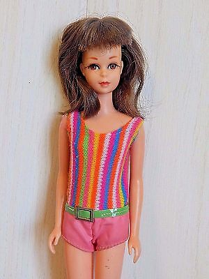 Mattel 1966 TNT Brunette FRANCIE Doll, Barbie's Cousin, in Tagged Swim Suit, EUC