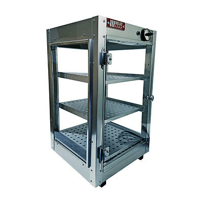 Commercial Food Warmer, HeatMax 14x14x24 Patty Pastry Pizza Empanada Display