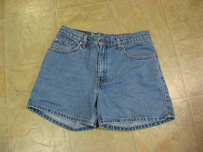 Womens size 9 JR VTG 1980's High Rise Levi Faded Blue Jean Shorts ~ VGC