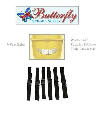 6 Toddler Table Replacement Seat Belts, Infant toddler table belts.