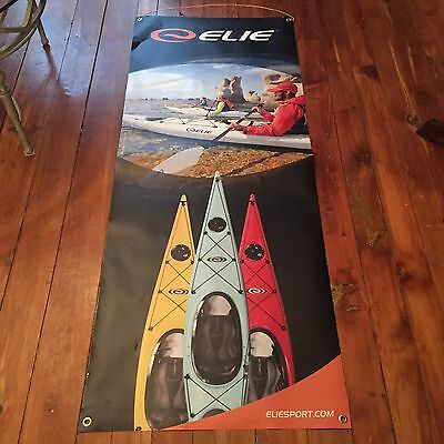 Elie Kayak Canoe Banner Store Advertisement Sign Sbl Sided Display 60 Inches